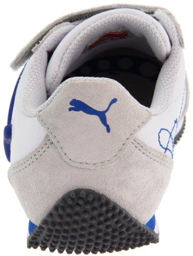 PUMA Speeder Illuminescent V Light-Up Sneaker (Toddler/Little Kid/Big Kid),White/Grey Violet/Princess Blue,7 M US Toddler