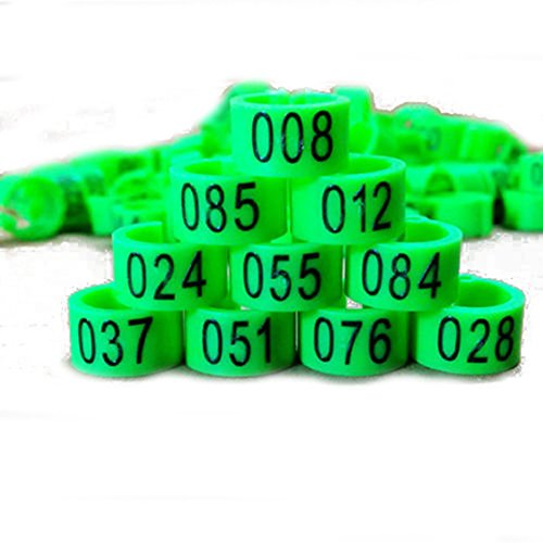 New 100 Pcs 8mm 1-100 Numbered Poultry Leg Bands Bird Pigeon