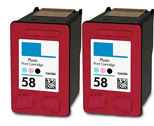HouseOfToners Remanufactured Ink Cartridge Replacement for HP 58 C6658AN (2 Photo, 2-Pack)