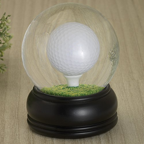 Bits and Pieces - Golf Ball Water Globe Challenge - Balance the Golf Ball on the Tee - Miniature Table Games - Perfect Desktop and Office Accessory