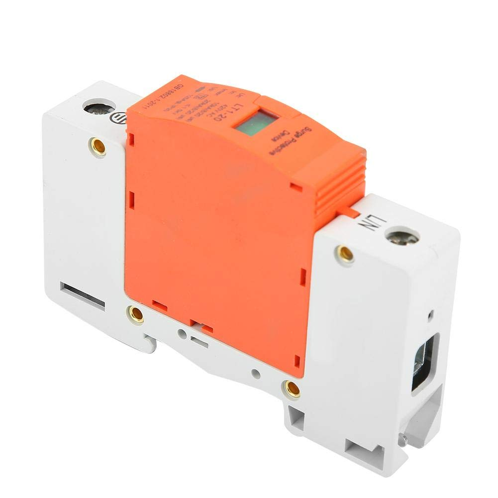 1P 10kA-20kA 420vAC Dispositivo de protecci/ón contra sobretensiones de bajo voltaje de la casa Protector contra sobretensiones f/ácil de instalar rendimiento estable
