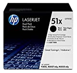 HP 51X (Q7551X) Black Toner Cartridge High Yield, 2 Toner Cartridges (Q7551XD) DISCONTINUED BY MANUFACTURER