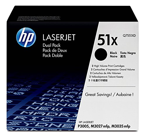 HP 51X | Q7551XD | Toner Cartridge | Black | High Yield | DISCONTINUED BY MANUFACTURER (Toner For Hp Laserjet P3005)