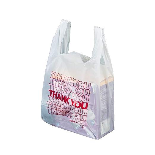 Amazon.com: Bolsas de plástico para la compra con texto en ...