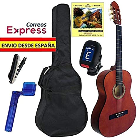 Pack de Guitarra Clásica JOSÉ GÓMEZ Completo, Guitarra + Funda + ...