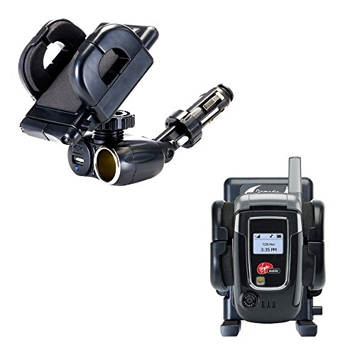 (2 in 1 USB Port and 12V Receptacle Mount Holder for the Audiovox Snapper 8915 Keeps Your Device Secure in Any Car or Truck)