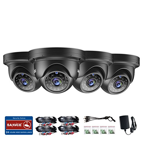 SANNCE Metal AHD1080P Dome Home Surveillance Security Camera for AHD DVR Recorder, 3.6mm Lens, 100ft Night Vision, IR Cut