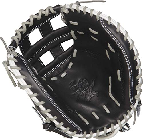 - Rawlings PROCM33FP-24BG Heart of The Hide Fastpitch Softball Glove, Black, 12.5