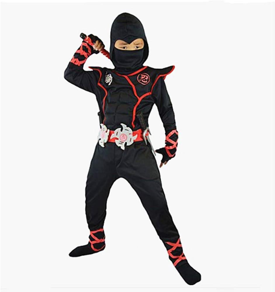 Proumhang Disfraz de Cosplay Halloween Ninja Samurai Ninja Niño ...