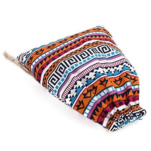 Malloom Mochilas geométricas Retro unisex impresión bolsas Drawstring mochila (A) B