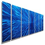 Beautiful Blue Painted Metal Wall Art - Metallic Wall Hanging, Panel Art - Arctic Blast By Jon Allen