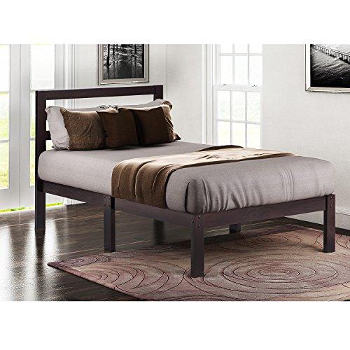 espresso bed frame - 8