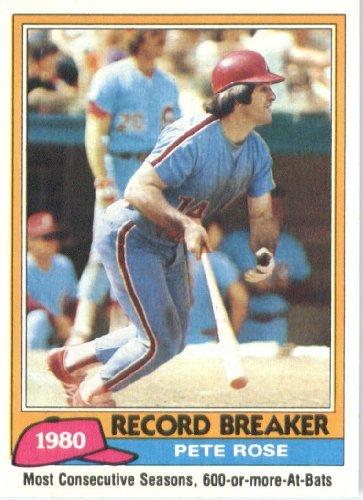 1981 Topps Baseball Card #205 Pete Rose Mint