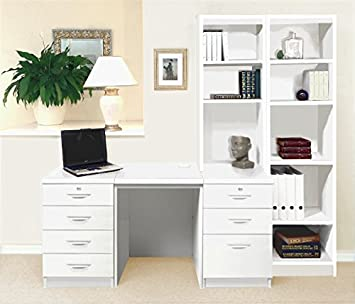 Remarkable Set 15 In Wh White Desk With Hutch Shelves Tall Narrow Download Free Architecture Designs Scobabritishbridgeorg