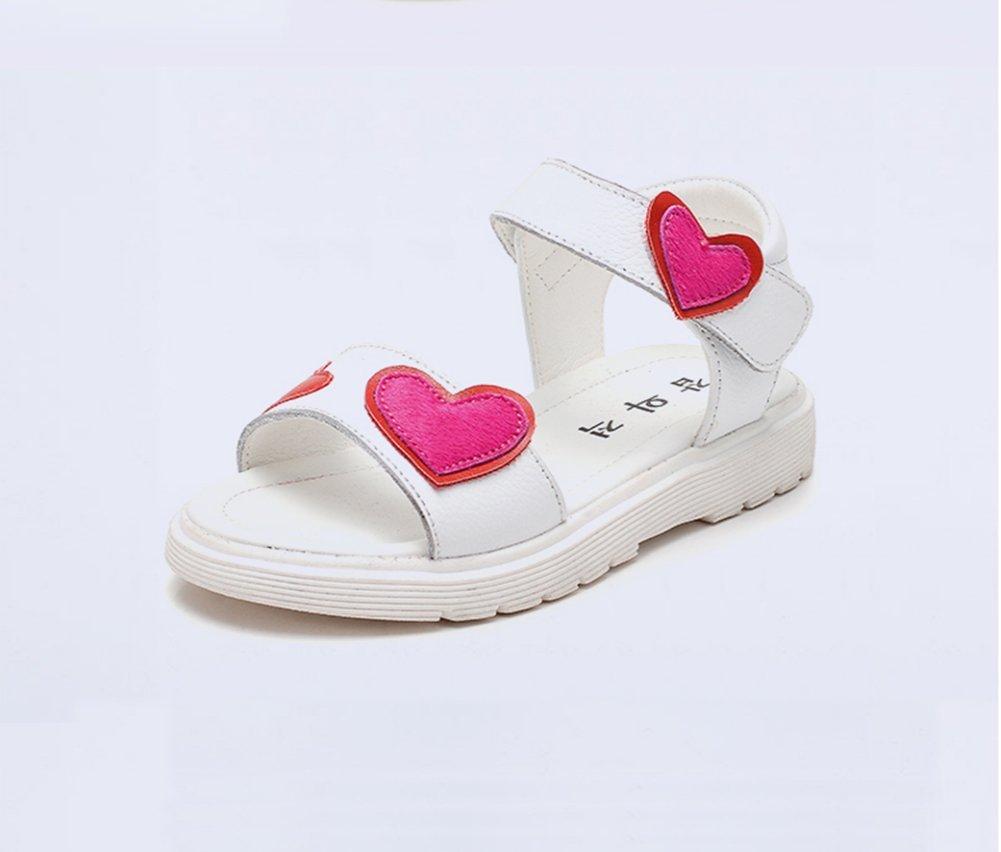 Veribuy Girls Soft Sandals Beach Shoes Summer Leisure Non-slip Red Love Sandals