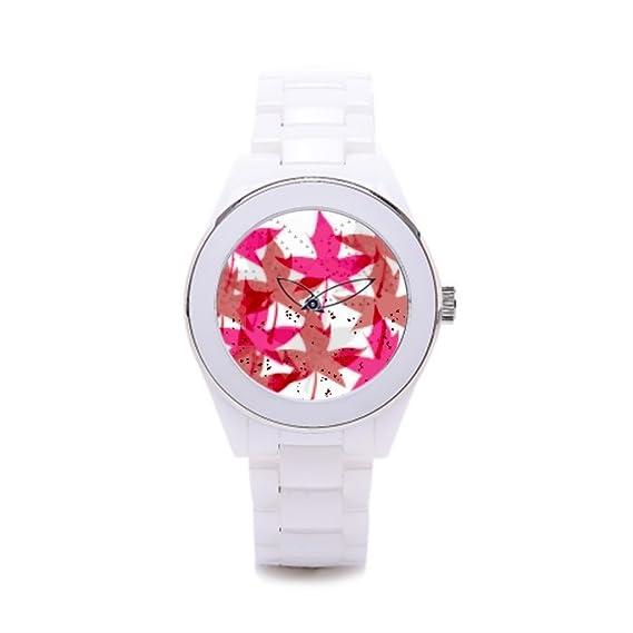 Queensland Ladies cerámica relojes hojas el reloj tienda arce: Amazon.es: Relojes