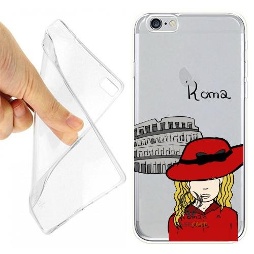 CUSTODIA COVER CASE CASEONE LOVE ROMA PER IPHONE 6 PLUS OPACO