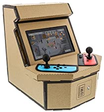 Nyko PixelQuest Arcade Kit - Constructible Arcade Kit with Customizable Pixel Art Sticker Kit and Arcade Stick Toppers for Nintendo Switch