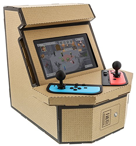 Nyko PixelQuest Arcade Kit - Constructable Arcade Kit with Customizeable Pixel Art Sticker Kit and Arcade Stick Toppers for Nintendo Switch
