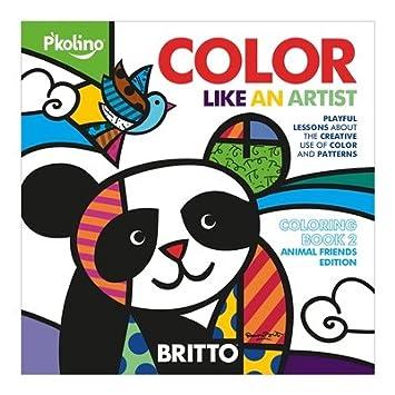 PKolino Britto Color Like an Artist Animal Coloring Book