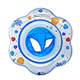 Baby Kids Toddler Inflatable Swimming Swim Ring Float Seat Boat Pool Bath Safety (Blue)