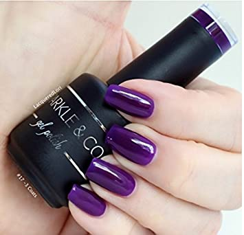 Amazon Com Sparkle Co Gel Color  Solid Dark Purple Soak