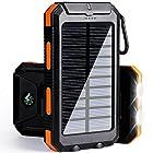 soyond Solar Phone Charger Power Bank-10000 mAh Portable Power Bank Solar Battery Charger