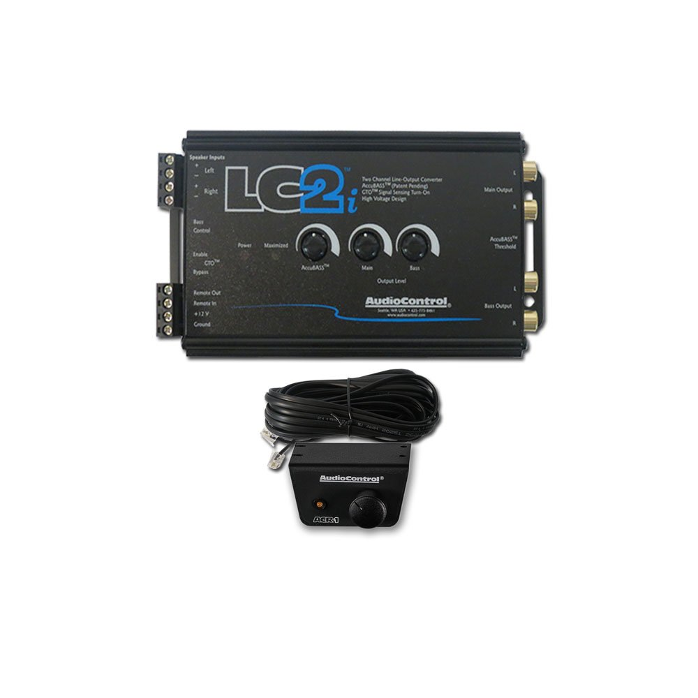2017 AudioControl LC2i Car Audio 2-Channel Line Output Converter + ACR-1 Wired Remote Level Control