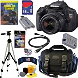 Canon EOS Rebel T3i 18 MP CMOS Digital SLR Camera with EF-S 18-55mm f/3.5-5.6 IS II Zoom Lens + 16GB Deluxe Accessory Kit