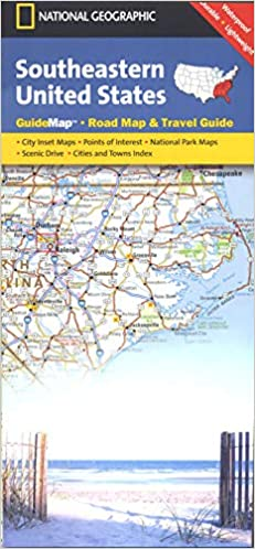 Southeastern Usa National Geographic Guide Map National Geographic Maps 0749717205116 Books