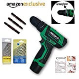 Tools Centre Imported Cordless Screwdriver Cum Hammer Drill Machine With Drill Bit Set.