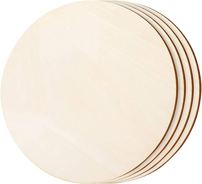 Unfinished Round Wood Circle Cutout 12\u201d by Woodpeckers