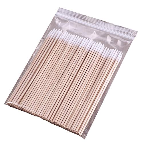 (PandaHome, 100 ct Long Cotton Swabs, Natural Precision Tips, The Cleaning Sterile Stocks Using for Facial, Indoors and Outdoor (100 ct Long Single Point))