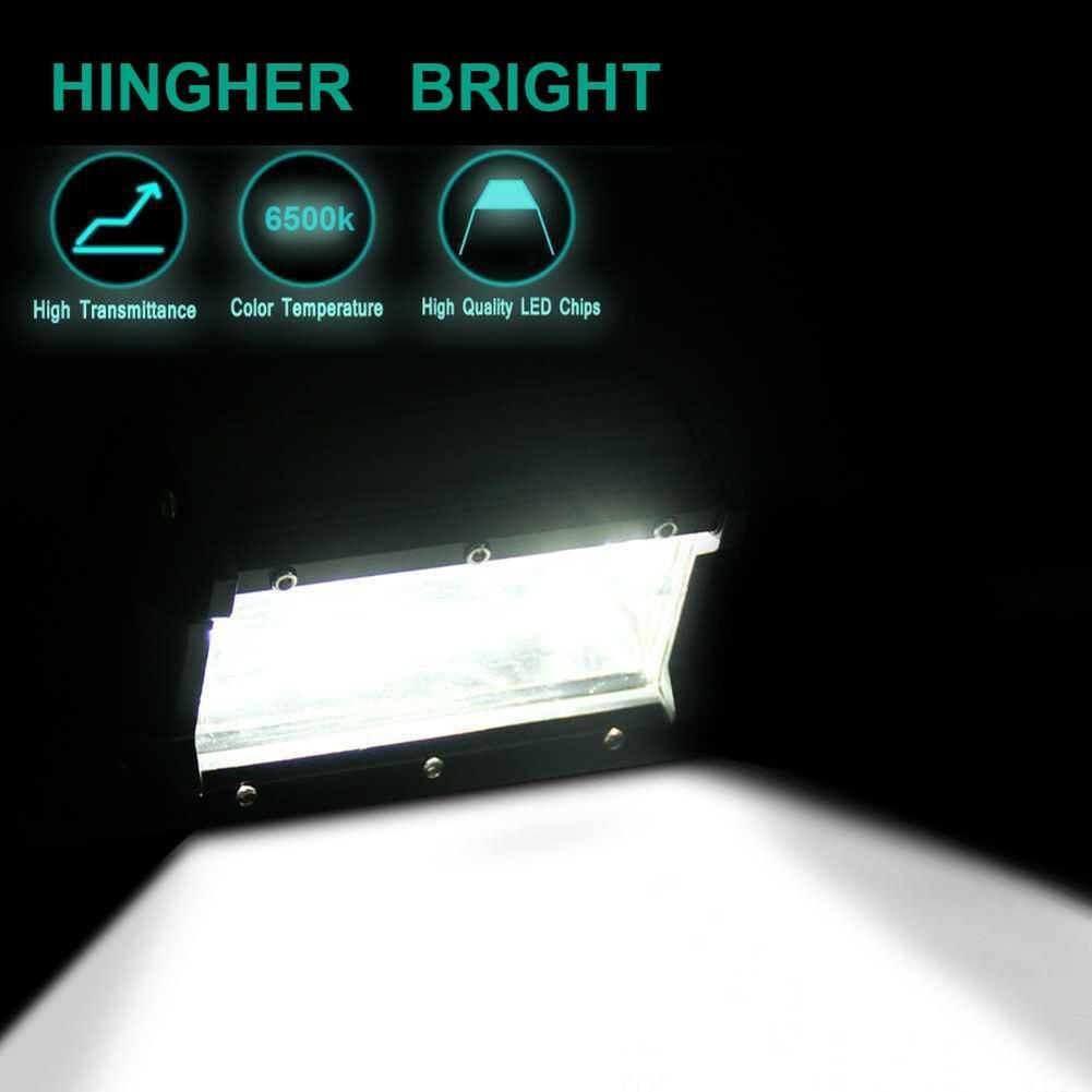 5in 72W 6500K 24LED Car Work Light Bar 6000LM 12V Offroad Bright Floodlight Lamp