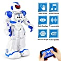 Flywind Smart RC Robot Toys for Kids, Singing Dancing Gesture Sensing Remote Control Robot Toy for Boys Girls Kids, Intelligent Programmable Led Humanoid Robot, Robot Toys for 4 5 6 8 Year Old, Blue