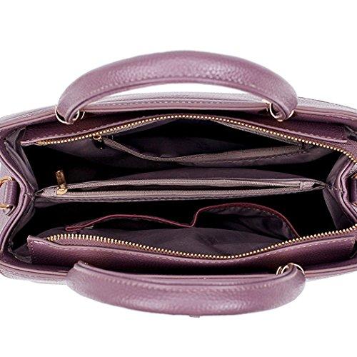 de bandolera y Carteras hombro clutches Shoppers Bolsos Púrpura de mano bolsos Mujer y Ua6Yqx8U