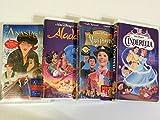 Disney/20th Century 4 Pak VHS--Aladdin, Cinderella, Mary Poppins, and Anastasia
