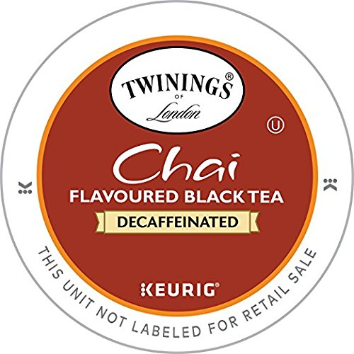 Twinings Chai Decaf, K-Cup Portion Pack for Keurig K-Cup Brewers, 24 Count (Pack of 2) by Twinings