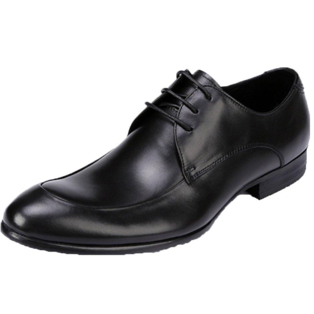NIUMJ Herren Lederschuhe Spitz Schuhe Geschäft European Schuhes Fashion Office Halbschuhe Wear-resistent