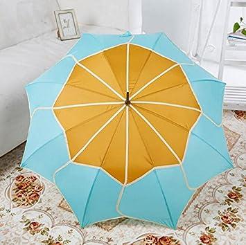 paraguas Creativa de dos colores de costura princesa en forma de loto paraguas Resistencia al viento