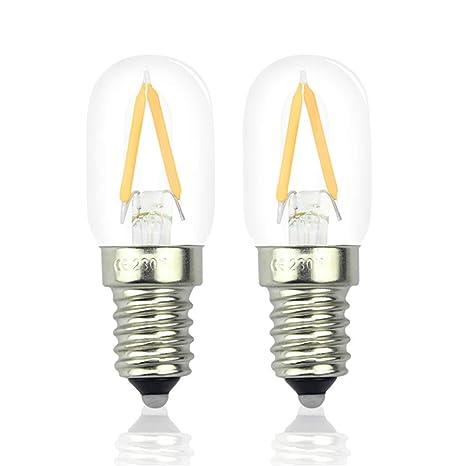 Lámpara de frigorífico de bombilla E14led T22 retro ...