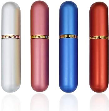 QJiang 5ml Rosa Plata Azul Rojo Aluminio y vidrio Vacío esencial ...