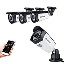 720P Security Camera System Lens 36 IR LEDs Night Vision Waterproof IP67 HD CCTV Bullet Camera For Indoor Outdoor(Pack of 4pcs)