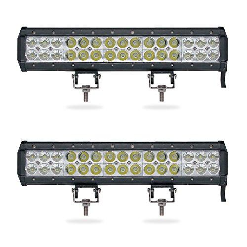 - 2pcs 14inch Dual Row LED Light Bar 90W LED Work Light Bar 12V 24V ATV SUV UTV Pickup Wagon 4WD 4x4 Offroad LED Bar