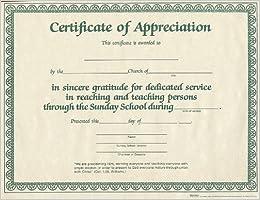 Certificate of appreciation for sunday school worker 6pk broadman certificate of appreciation for sunday school worker 6pk yadclub Images