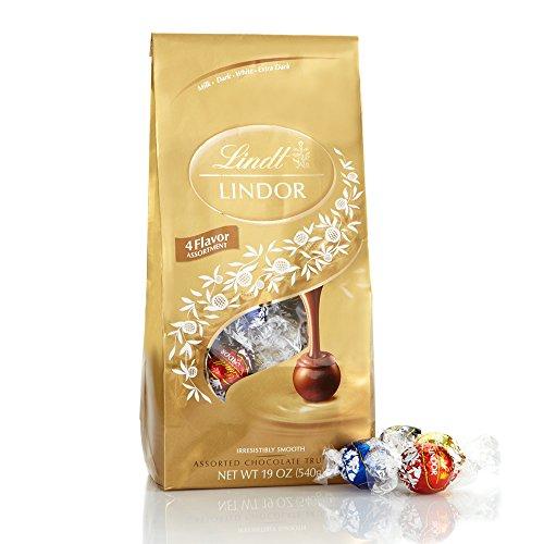 Lindt LINDOR Assorted Chocolate Truffles, Kosher, 19 Ounce -