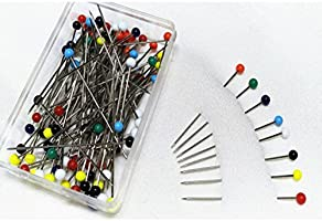 4mm Head + 34mm Pin ULTNICE 250pcs Glass Pin Ball Head Pins Multicolor Sewing Pins for DIY Sewing Crafts