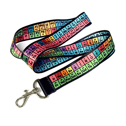 Lanyard Gift - Rainbow Lanyard, Periodic Table of Elements Chemistry