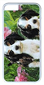 Animals Sweet Puppy Dogs Case for iPhone 6 Plus 5.5 inch PC Material White(Compatible with Verizon,AT&T,Sprint,T mobile,Unlocked,Internatinal) in GUO Shop