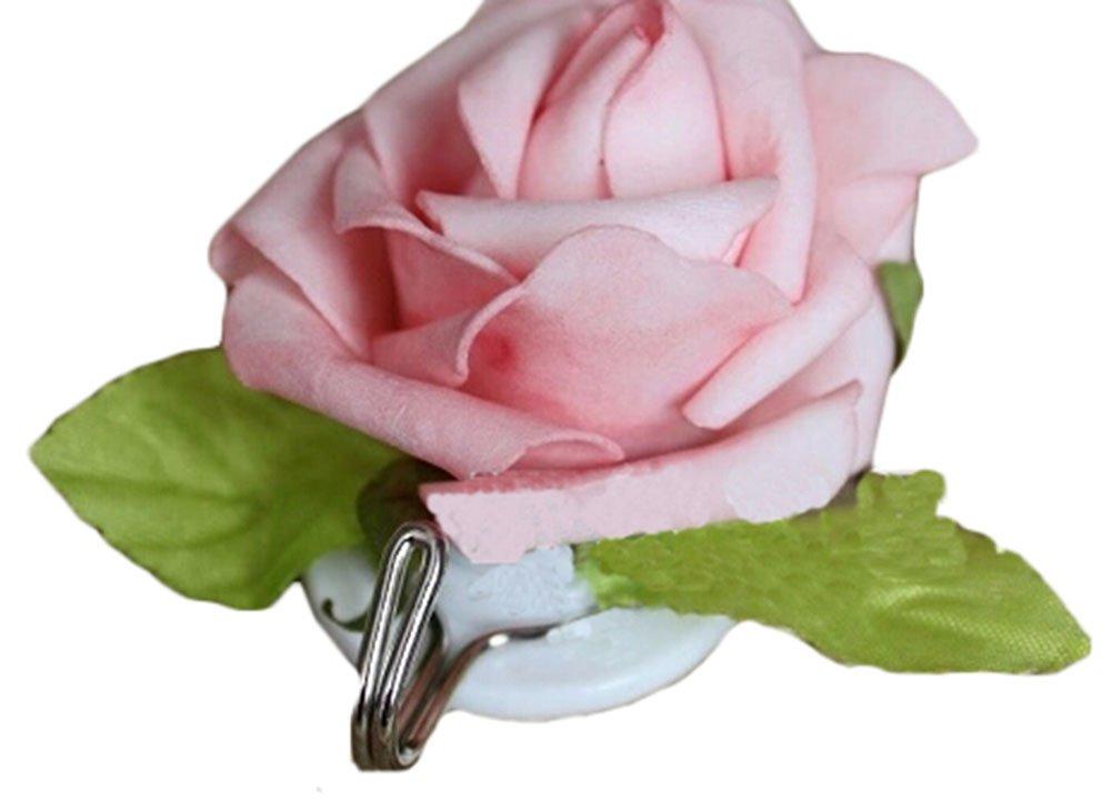 Set aus 2 lä ndlichen Stil Wandhaken chinesischen Rose Stock-Haken Rosa Blancho Bedding